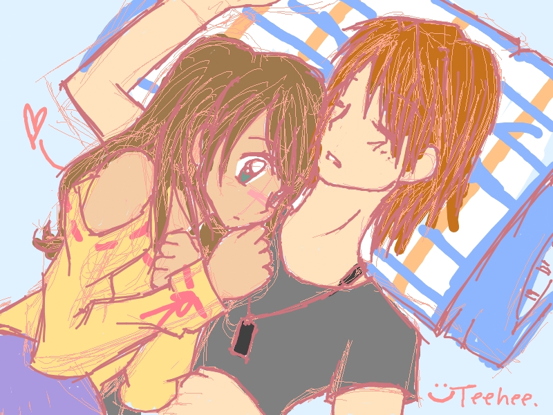Anime Couple Cuddle Together by ~LfurvnQ on deviantART