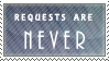 No Requests Stamp by TalonEX