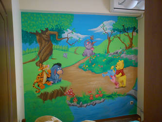 winnie the pooh mural by ntdespoina