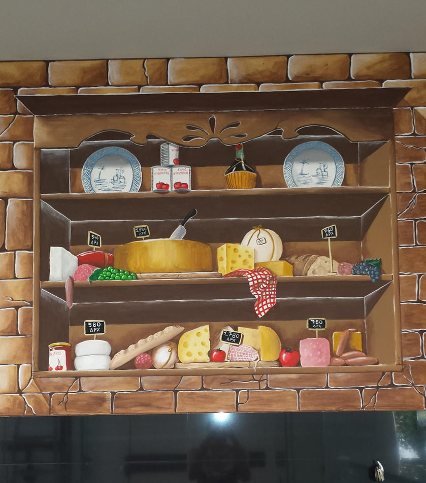 mural old shelf by depyy