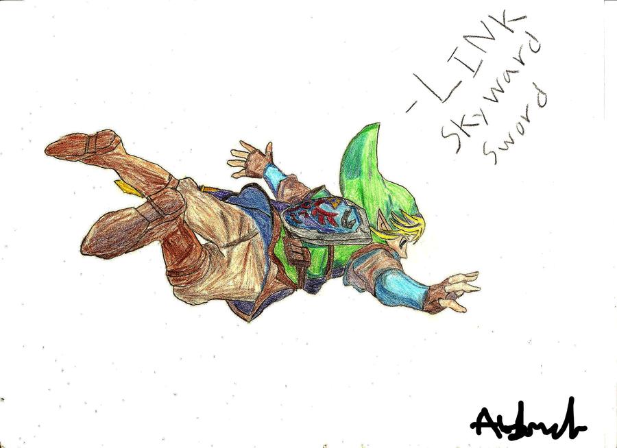 Link skyward sword by Cryrowolf