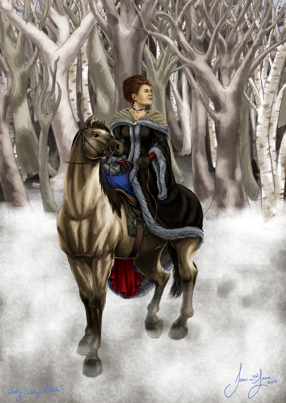 Lady Catelyn Stark by MinorTechnicality