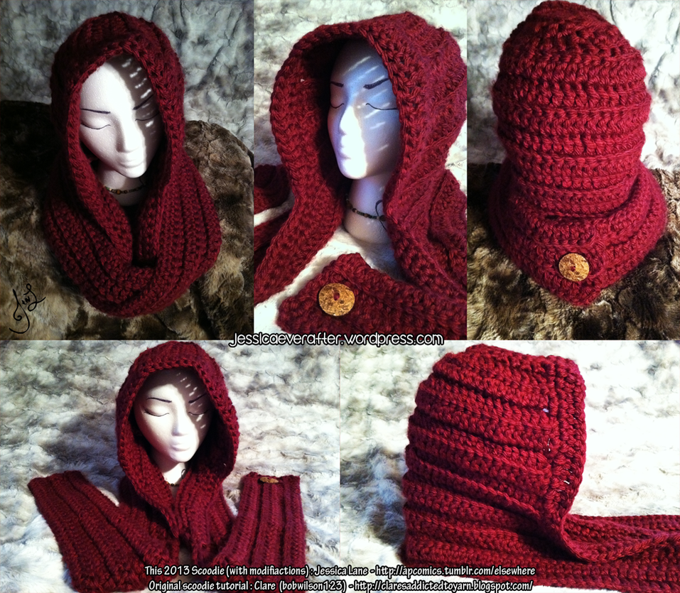 One Skein Knitting Pattern : Little Red Riding Scoodie by MinorTechnicality on DeviantArt