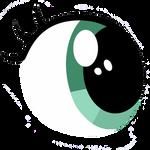 My little pony Petalberry eye vector