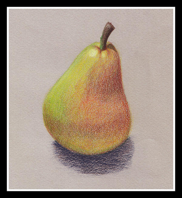 Pear - colored pencil by sailorariel