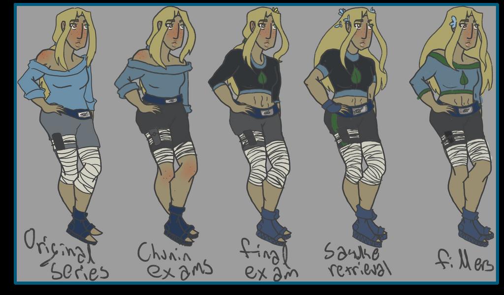 Chiya Outfits 1 by kage-kunoichi