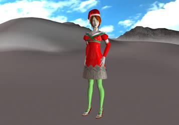 Elise's Christmas Dress by TheBlackNova