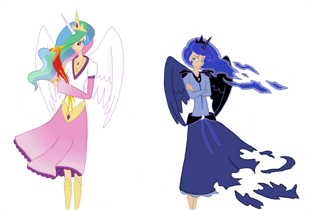 Celestia and Luna by TheCheeseburger on DeviantArt