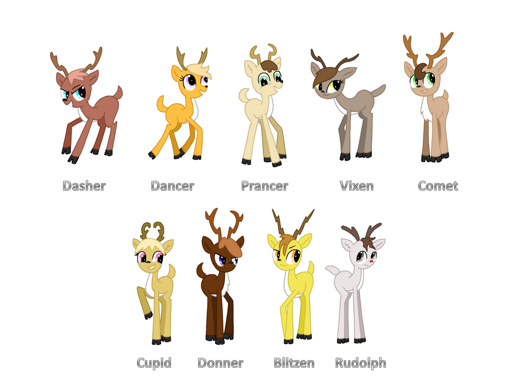 Santa's Reindeer: MLP Style by TheCheeseburger