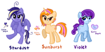 Some Group Mascot Contest Ponies by TheCheeseburger