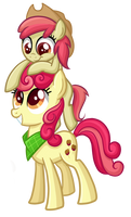 Apple Bumpkin and Liberty Belle by TheCheeseburger