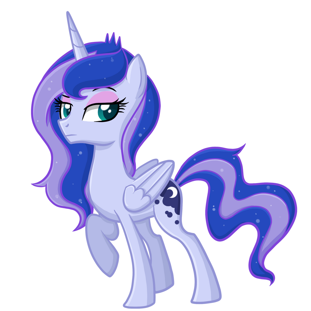 equestria girls luna pony version by thecheeseburger on