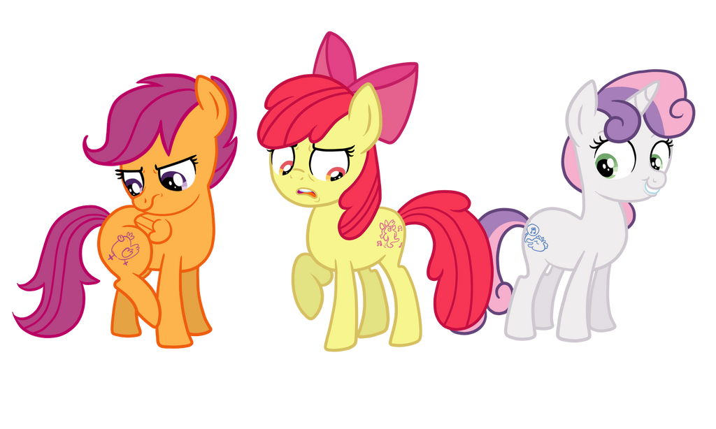 The CMC Get Their Cutiemarks by TheCheeseburger