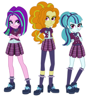 Shadowbolts Dazzlings by TheCheeseburger