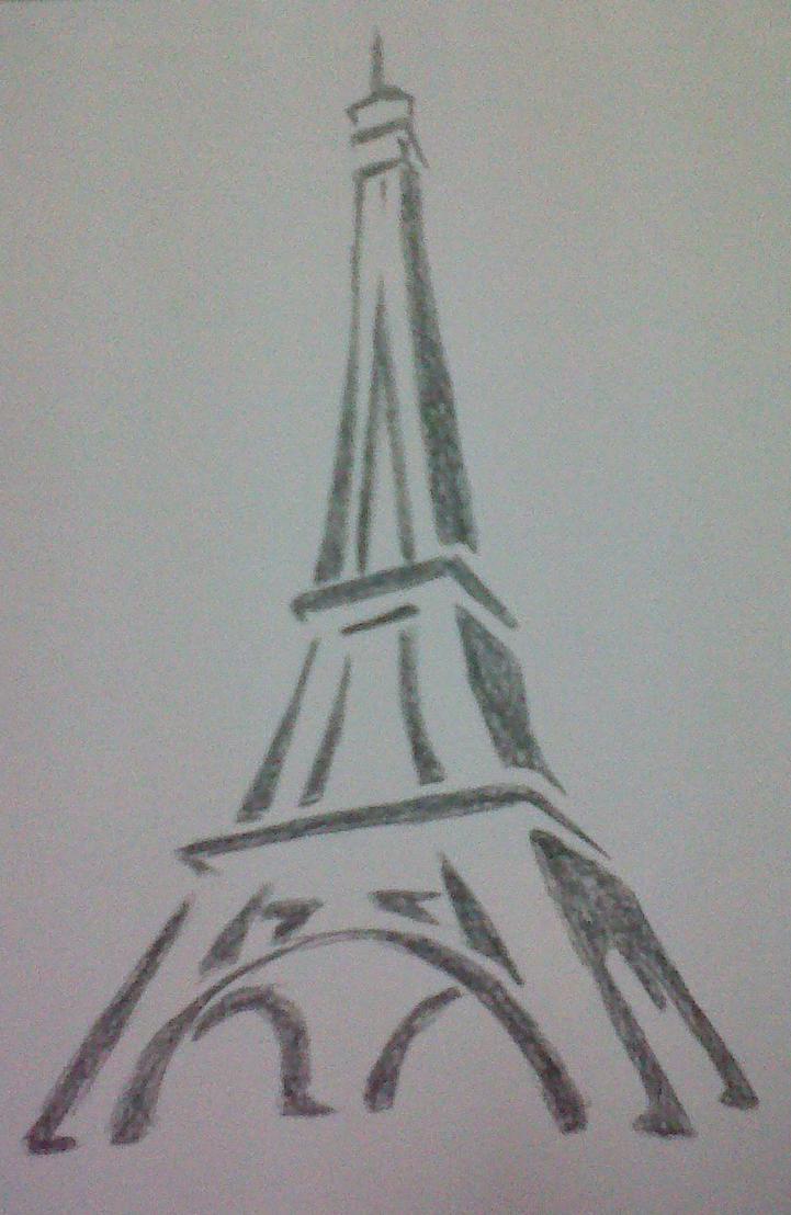 Eiffel Tower Drawing by mido0oafellay