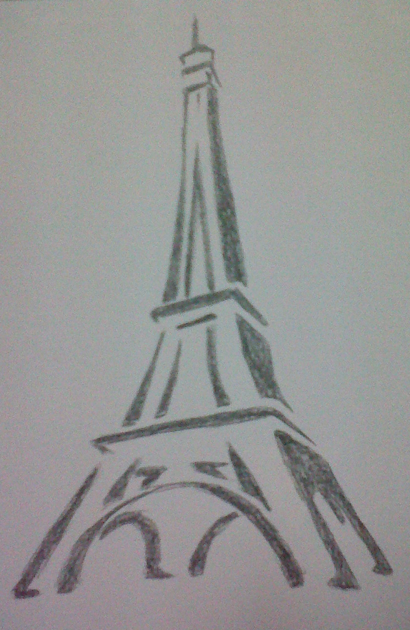 Eiffel tower drawing by mido0oafellay digital art drawings paintings