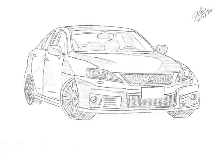 Lexes car pencil drawing by mido0oafellay