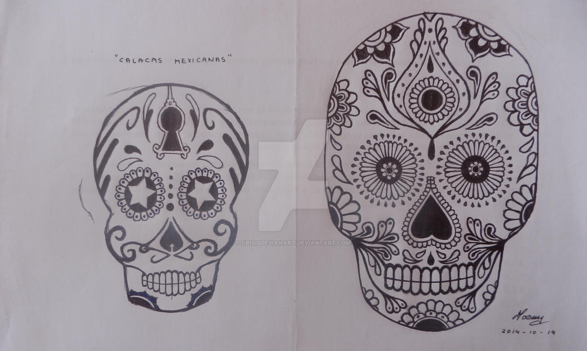 Calacas Mexicanas By Crisisdevianart On Deviantart