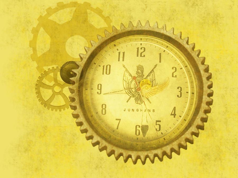 steampunk wallpaper clock - photo #11