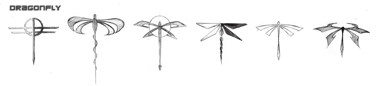 Dragonfly Symbols Sketches By Death By Papercuts On Deviantart