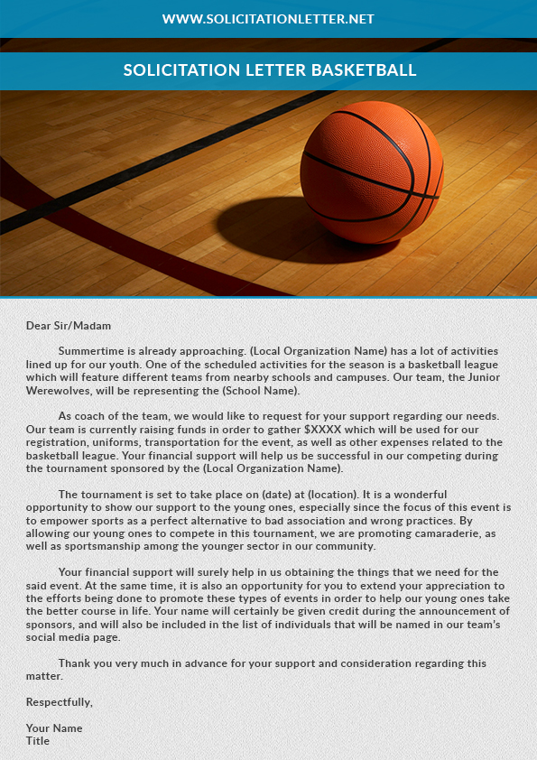 Solicitation Letter Basketball By Bellaswiger On DeviantArt
