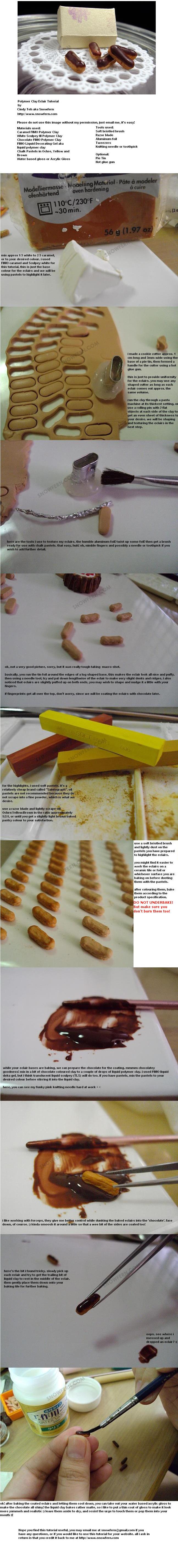 Polymer Clay Eclair Tutorial