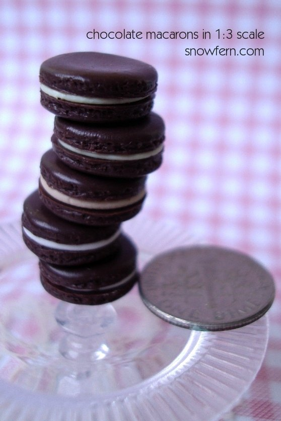 chocolate macarons 2 by Snowfern