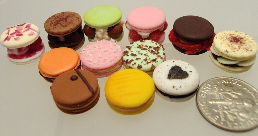 1 4 macarons altogether by Snowfern