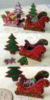 1-12 gold sleigh cookies by Snowfern