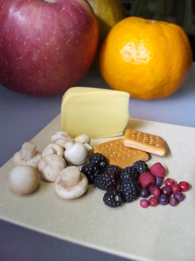 1-4 berries and mushrooms by Snowfern