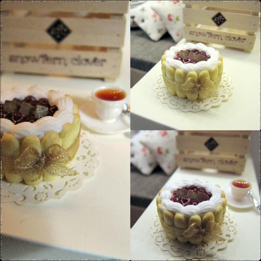 1-12 Cherry Chocolate Charlotte Cake by Snowfern