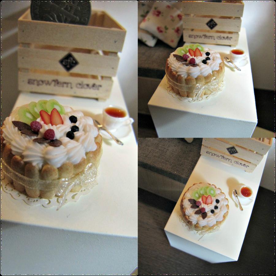 1-12 Creamy Fruit Charlotte Cake by Snowfern