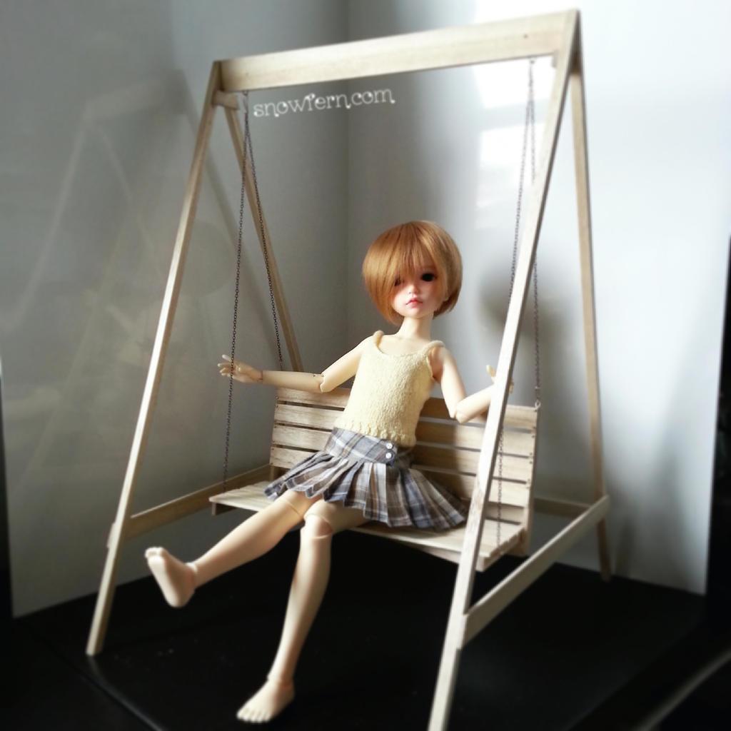 1 4 scale miniature swing set msd by snowfern on deviantart for Mini swing set