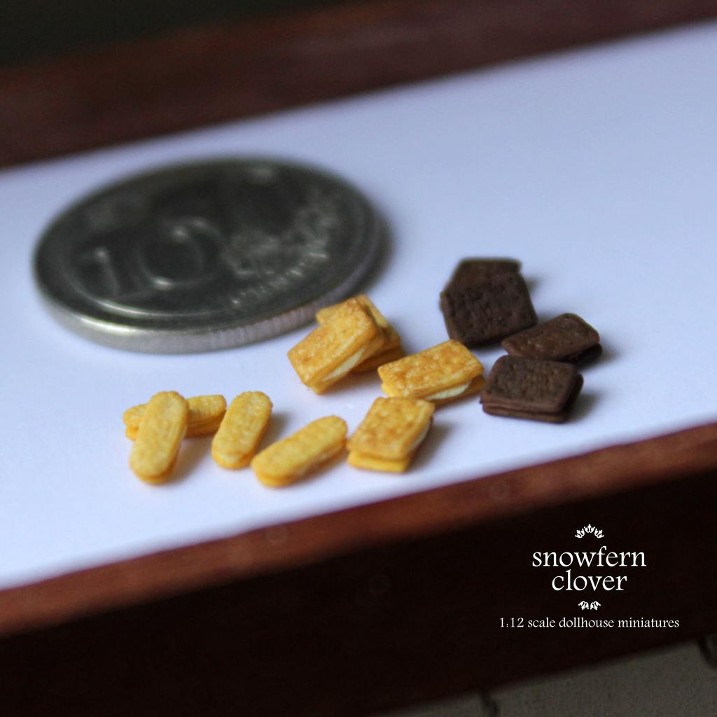 1:12 scale dollhouse miniature Khong Guan biscuits by Snowfern