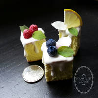 1:3 scale miniature cake slices by Snowfern