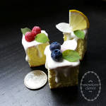 1:3 scale miniature cake slices