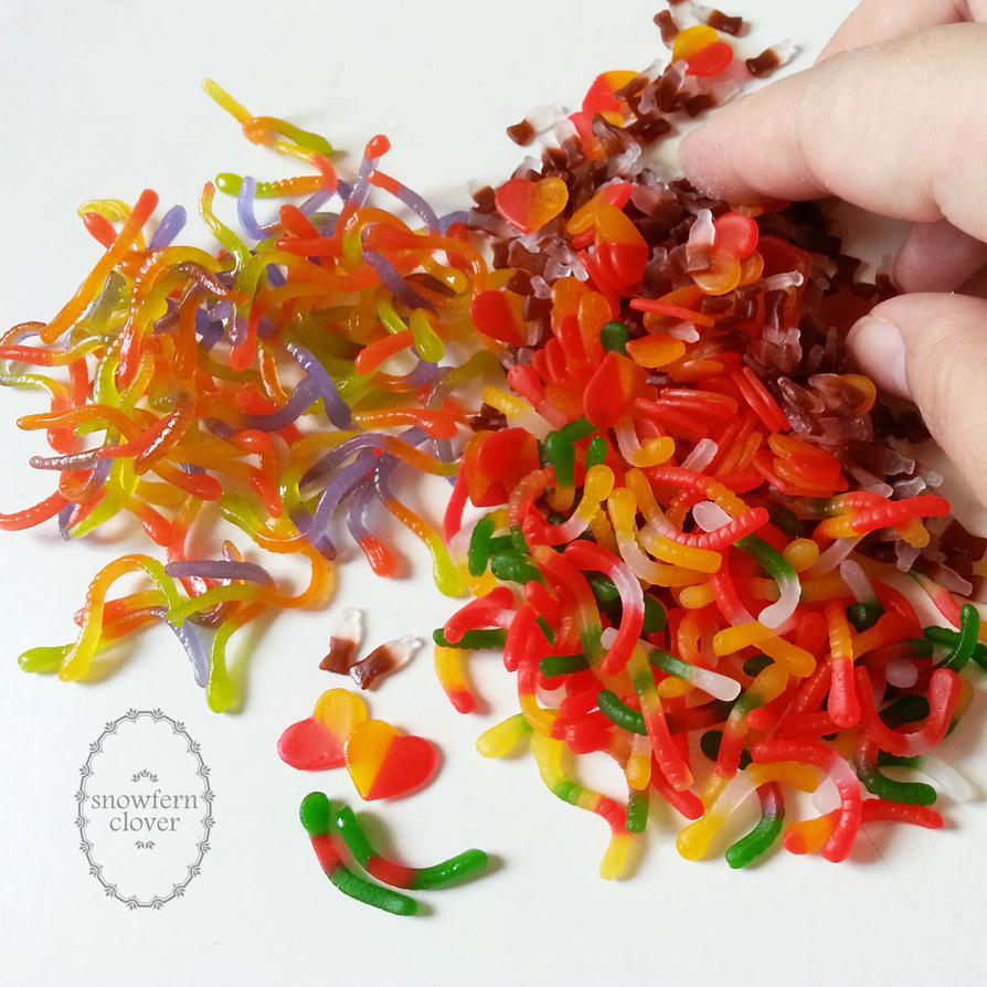 1:3 scale miniature assorted gummy candy - sealing by Snowfern