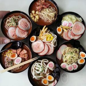 1:3 scale miniature Japanese noodles