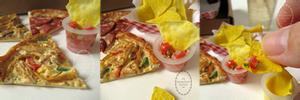 1:3 miniature Roast Chicken Pizza Slice
