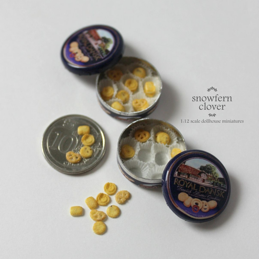 1:12 scale miniature danish cookies ver. 2.0 by Snowfern