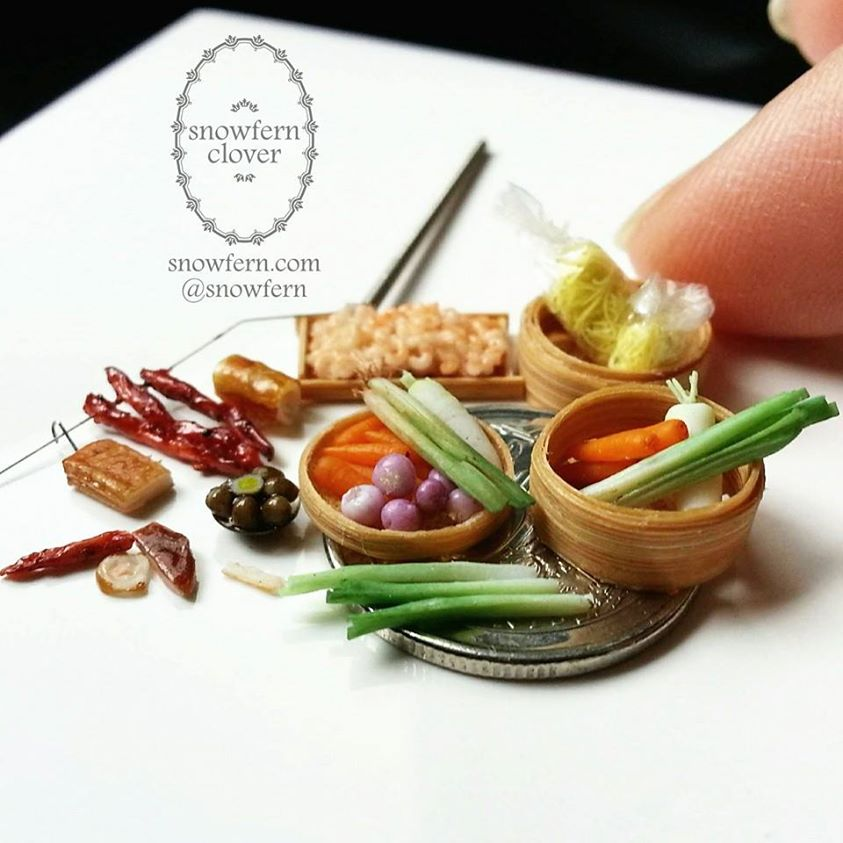 1:35/1:48 scale dollhouse miniature food items by Snowfern