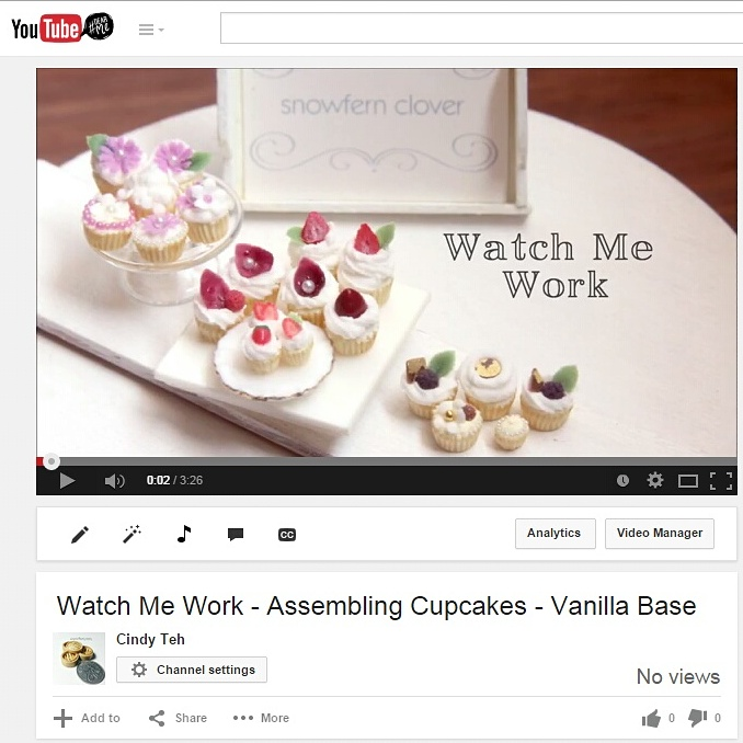 New Videos up on Youtube - Assembling Cupcakes by Snowfern