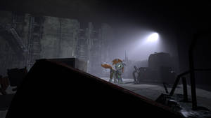 SFM (Fallout equestria) Dark and spooky place.