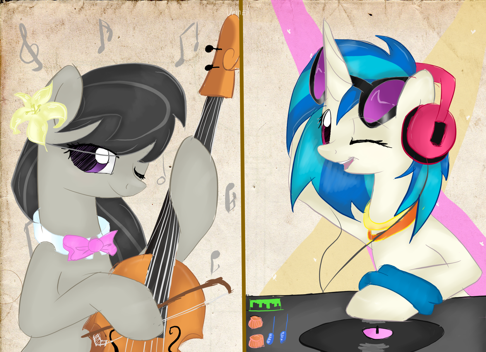 Music Ponies by Urin-MP