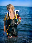 Tidus Cosplay - The ocean