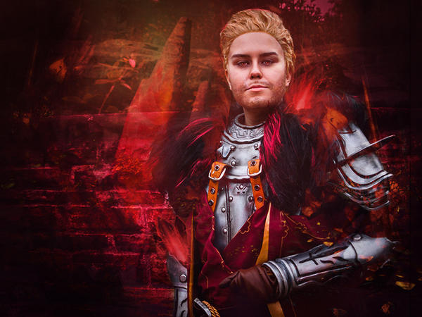 Cullen Cosplay - Red lyrium by zahnpasta