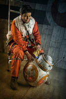 Star Wars - Poe Dameron Cosplay and BB-8