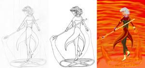 'Magi' +pencil+outline+coloration