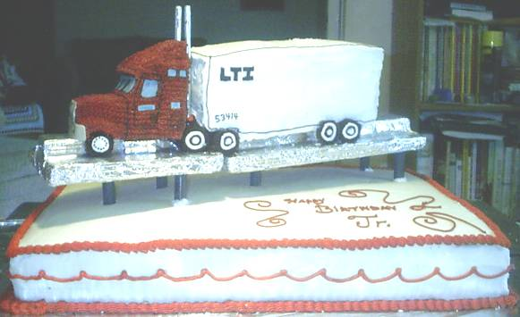 Finished Tractor Trailer Cake by lny on DeviantArt