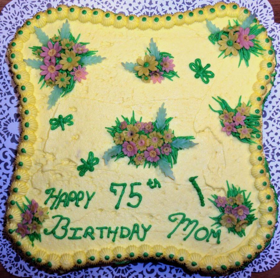 Moms 75th Birthday Cake By Lny